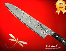 "Handcraft Damascus 101 Layers Chef's Knife Gyutoh 9.4"" Full-Tang Wood Handle"