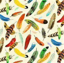 Affectionate Feathers Digital Print Epic Owls Cream by Kayomi Harai.