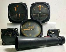 Vintage Aircraft Instruments Climb / Bank / Temp / Venturi Bendix Edison Aca
