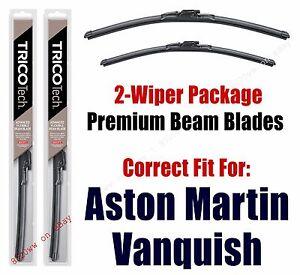 Wipers 2-Pk Premium Beam Wiper Blades fits 2014+ Aston Martin Vanquish 19260/200