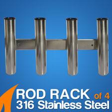 Rod Rack of 4 316 Stainless Steel Fishing Rod Storage - 1 Unit