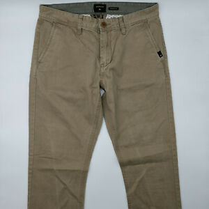 Quiksilver Straight Fit W30 L32 beige Herren Jeans Designer Denim Retro Hose VTG