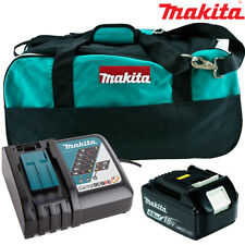 Makita BL1840 4.0Ah Battery + DC18RC Charger + LXT400 Bag For DDF458Z, DHP453Z