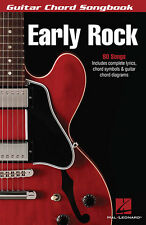 Early Rock Guitar Chord Songbook Lyrics & Chord Diagrams 80 Songs Music Book NEW