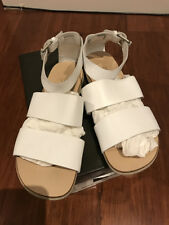 CALVIN KLEIN CK SHANE WHITE NAPPA LEATHER SANDALS SZ 41 *PRE-LOVED*