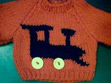 Customized Christmas Train Engine Sweater Handmade for 18 inch Build A Bear
