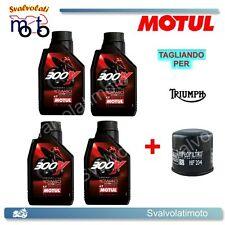 TAGLIANDO FILTRO OLIO + 4LT MOTUL 300V 10W40 TRIUMPH BONNEVILLE 865 2007