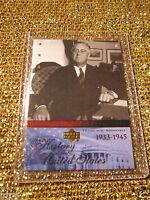 US President Franklin D. Roosevelt FDR 1945 Upper Deck US Hisotry Trading Card