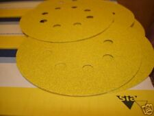 125mm 8 HOLE 80Grit  SIA PRO QUALITY DISCS X 10 HOOK & LOOP  BACKED POST FREE