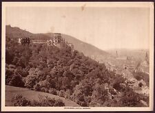 1910s Antique Vintage Germany Heidelberg Castle Lansdcape Photo Gravure Print
