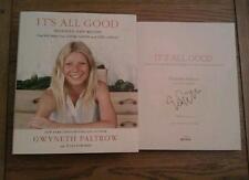 It's All Good SIGNED Gwyneth Paltrow Hardback Cook Recipe Book 2013