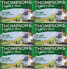 6 × Thompson's Irish Breakfast Blend 80 Tea Bags 250g (480 tea bags in total)
