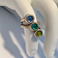 SOLD OUT! UNO DE 50 MURANO CRYSTALS SUPER - EGO RING SIZE 7.5