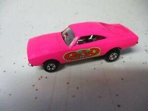 "Matchbox Lesney Superfast SF70 Dodge Dragster- ""Rat Rod"" labels, plating issue"
