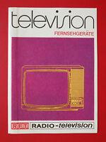 altes PROSPEKT RFT RADIO - television Fernsehgeräte DDR von 1977 ( 9058