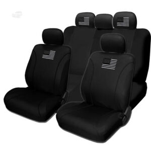 For FORD New American Flag Design Front Rear Car Truck SUV Seat Covers Set