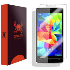 Skinomi Silver Carbon Fiber Skin & Screen Protector for Archos 50d Helium 4G