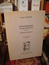 Jean RAINE Désordres consentis L'Enfer de la phobie 1999 Éd. Le bel aujourd'hui