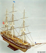 "Intricate, Authentic Wooden Model Ship Kit by Mamoli: the ""USS Constitution"""