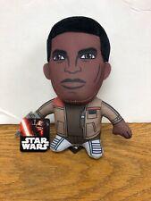 "Star Wars VII Finn Super Deformed Plush The Force Awakens NWT 7"" Tall A5"