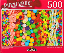 """Rows of Candy Jelly Beans Candies Jigsaw Puzzle 500 Pieces 11""""X18.25"""" Piece NEW"""