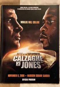 Joe Calzaghe  V Roy Jones Jnr Boxing Programme