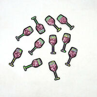 New Wine Glass Cup Sequins Patch Iron On Patches Badge Bag Hat Clothes Applique