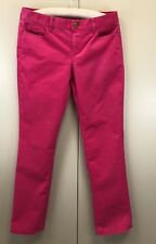 J. Crew Womens  Size 29 S City Fit Pink  Corduroy Jean Pants