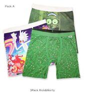 "PSD Rick&Morty 3/ 6 pack Mens 6"" Quick Dry Midway Long  Boxer briefs M L"