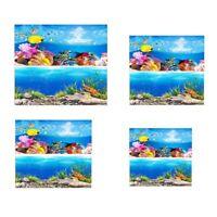 Double Sided Aquarium Background Backdrop Sticker Fish Tank Landscape Decoration