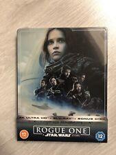 Star Wars Rogue One A Star Wars Story 4K Ultra HD Steelbook 3 Disc Edition ✅ £35