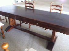 tavolo rettangolare di massello spessore cm. 5 lucidato a gommalacca a