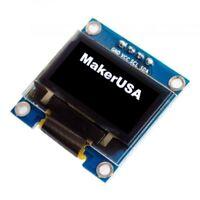 "0.96"" Adjustable I2C 128X64 WHITE OLED Display Module for Arduino, Raspberry Pi"