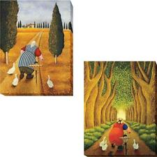 1216R694IG Lady with Fresh Bread & Home From The Market by Lowell Herrero 2-Pie