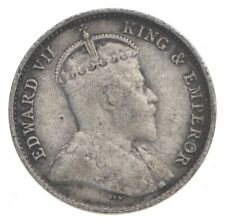SILVER Roughly the Size of a Dime 1903 Hong Kong 5 Cents World Silver Coin *555