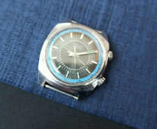 Rare USSR WATCH POLJOT ALARM vintage black Soviet Collectible Serviced