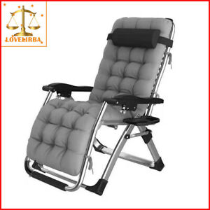 Portable Reclining Folding Deck Chair Lounge Beach Camping Sun Outdoor HBE2081