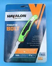 "Havalon Piranta Bolt Field Knife 2.75"" Stainless Steel Quik-Change Xtc60Abolt-Gx"