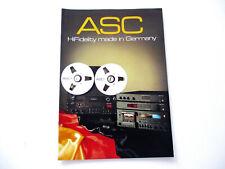 ASC electronic Katalog Prospekt 1983 Hifi Technik Broschüre HI-FI AS 2001 3001