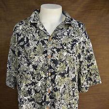 Havana Jacks Cafe  Hawaiian shirt  Palm Fonds  floral  X Large
