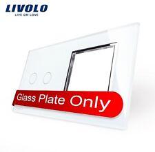 Nur die Glasabdeckung für Serienschalter und Steckdose Weiß LIVOLO VL-C7C2/SR-11
