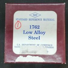 Nist Standard Reference Material 1762 Low Alloy Steel