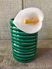 Vintage 1979 Vandor Parrot Pearls Ceramic Coil Bud Vase Pencil Holder