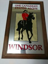 """Windsor Whiskey One Canadian Stands Alone Advertising Bar Mirrored Sign Rare 22"""""""
