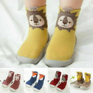 Baby First-Walking Animal Sock Shoes Toddler Trainers Soft Sole Elastic Slip-on~