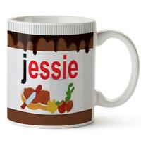 Personalised Mug FUNNY NUTELLA Ceramic Cup Tea Coffee Gift Chocolate Work KM26