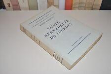 █ Marie Gasquet SAINTE BERNADETTE DE LOURDES 1934 Flammarion █