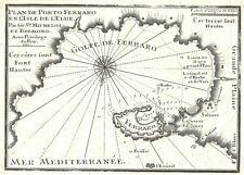 Antique map, Plan de Porto Ferraro en l'Isle de L'Elbe
