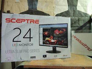 """NEW Sceptre 24"""" LED Monitor Ultra Slim Pro Built-in Speakers - E248W-19203RT"""