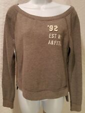 Abercrombie & Fitch Women's Logo Graphic Fleece Hoodie Gray Size XS XSmall